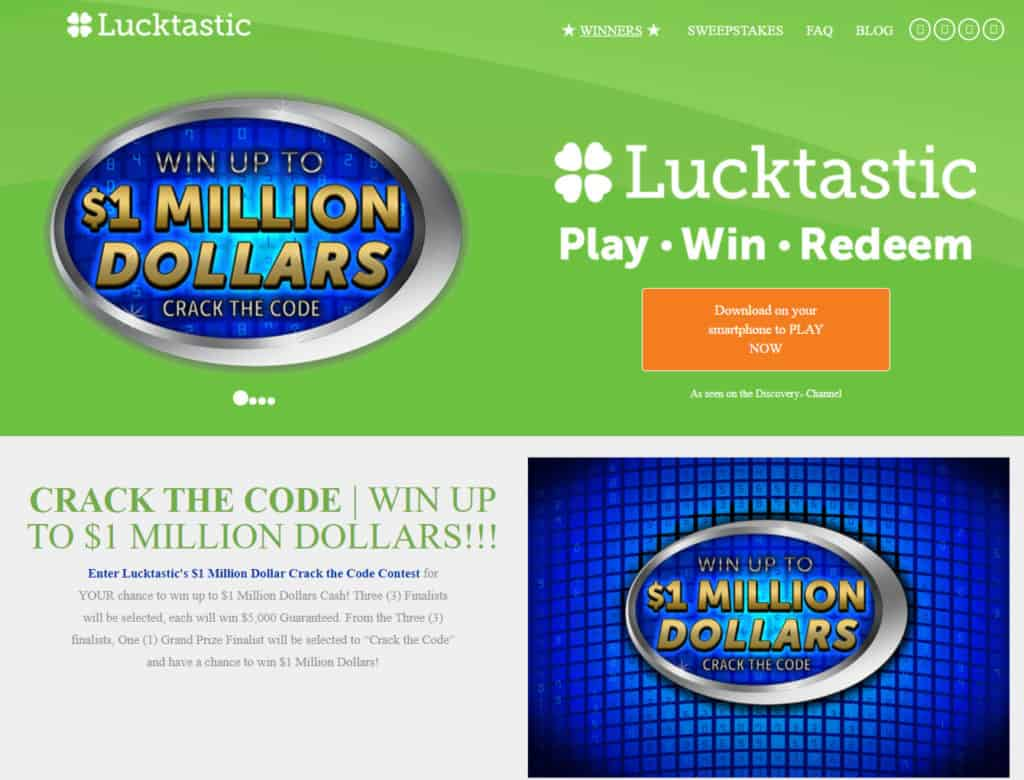 Photo of Lucktastic; an online gaming site
