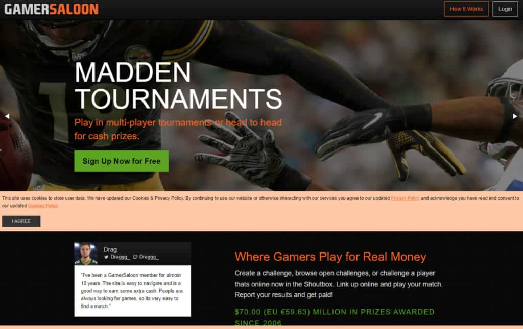 Photo of GamerSaloon; an online gaming site