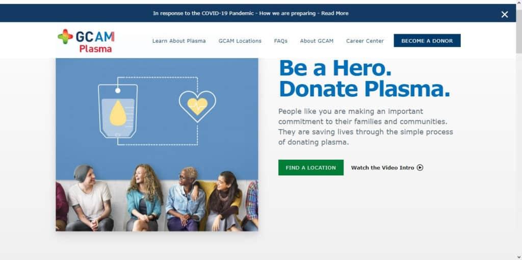 Photo of GCAM Plasma Donation Center