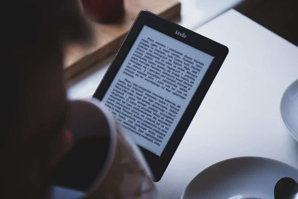Photo of a Kindle device