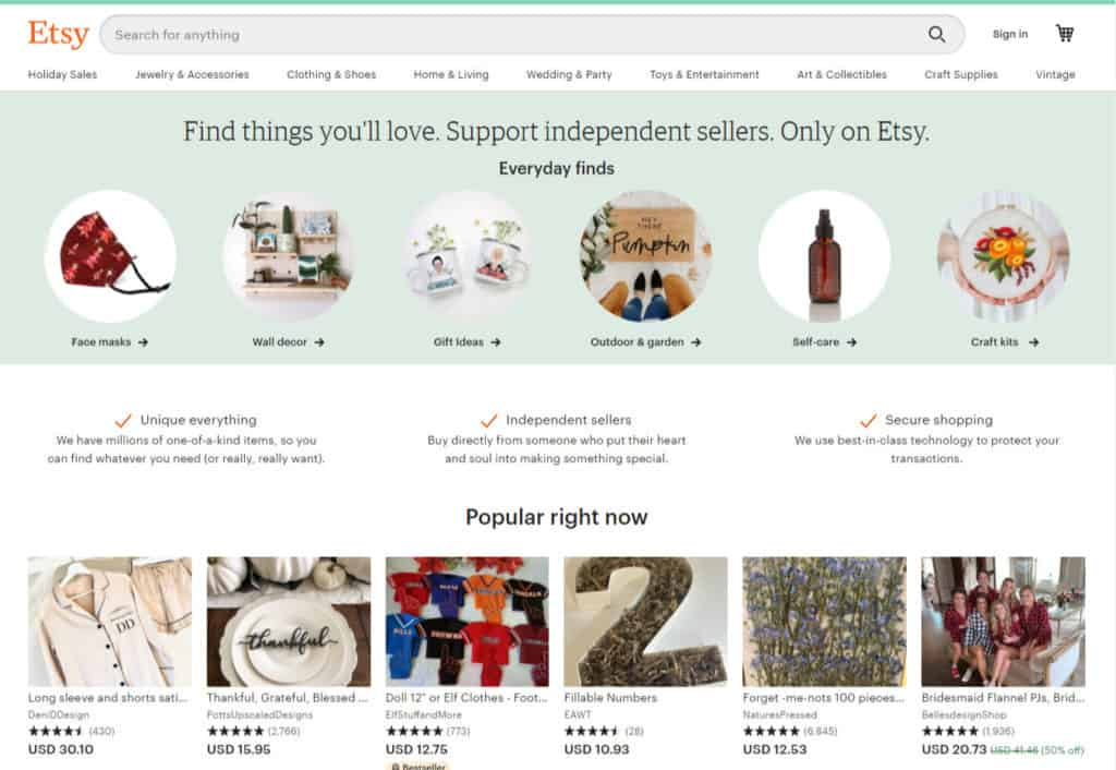Photo of Etsy; a site to sell feet pics online