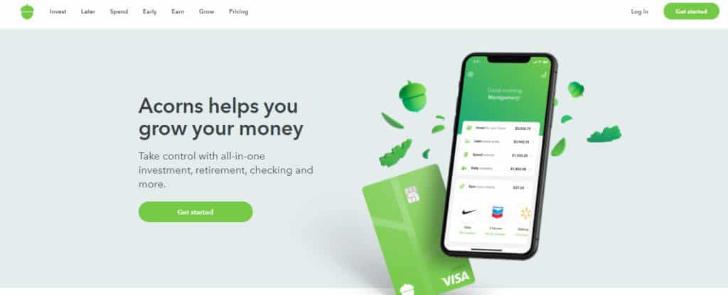 Photo of Acorns; a money-making app