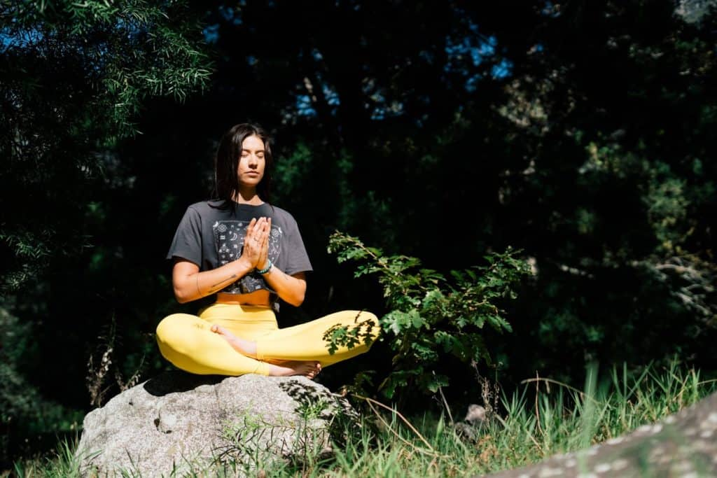 Photo of a man meditating