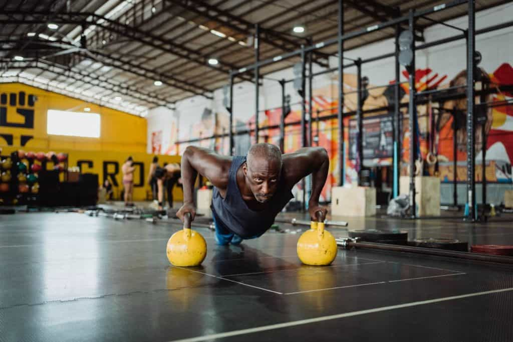 Photo of a man working out