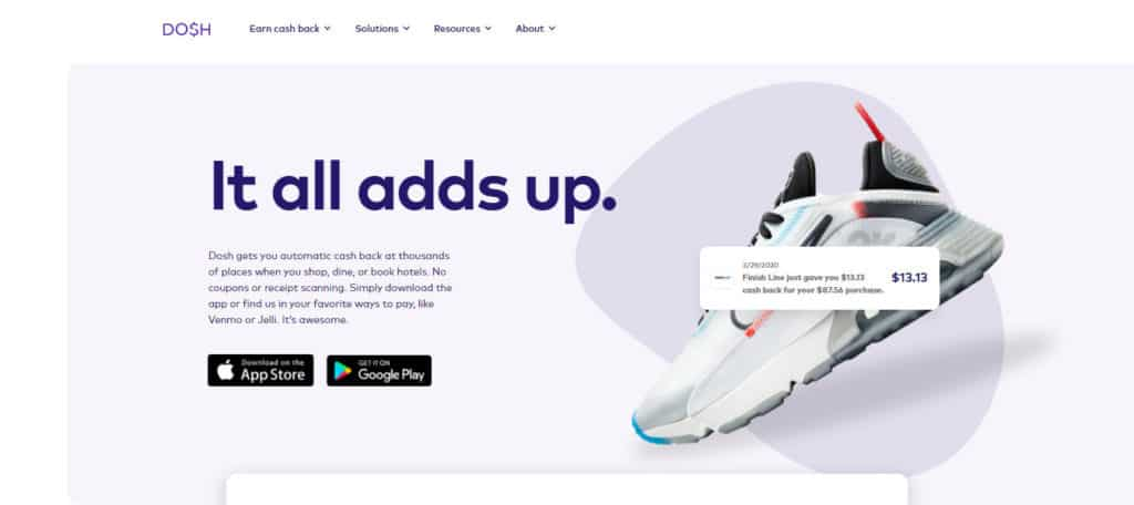 Photo of Dosh; a site where you can earn cashback