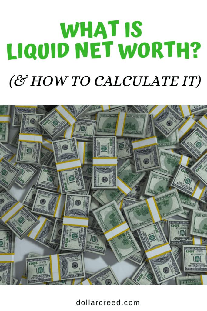 Pin image of liquid net worth