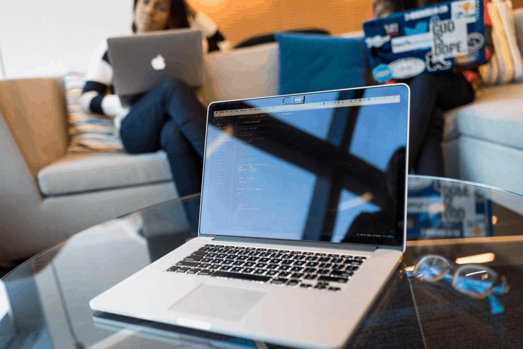Photo of a laptop; a non-liquid asset