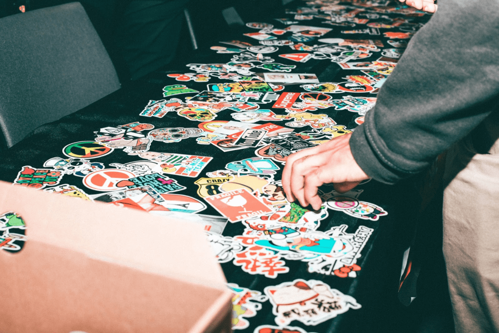 Photo of free stickers