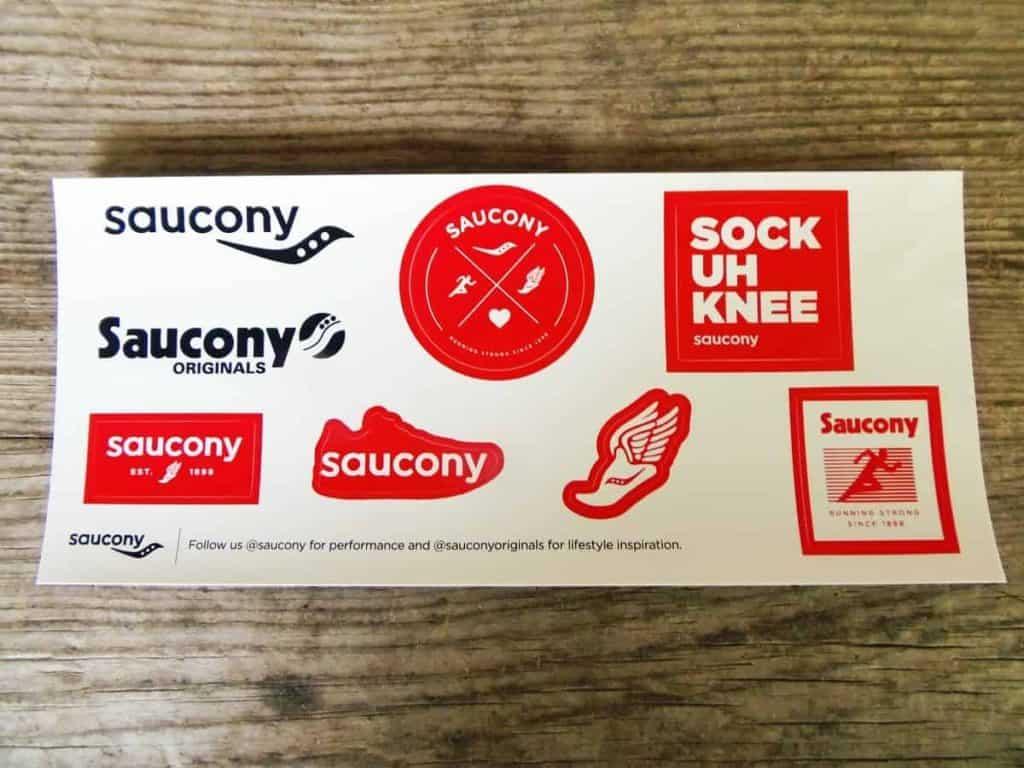Photo of Saucony free stickers