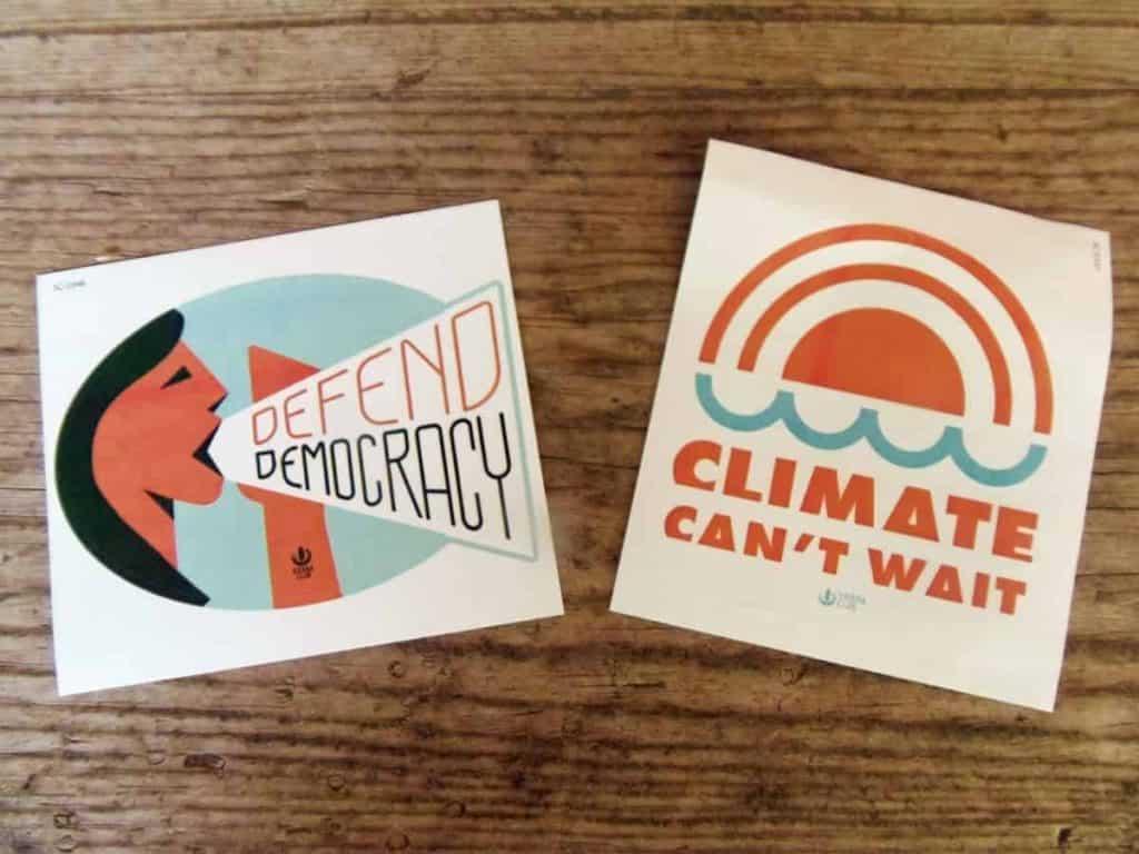 Photo of Sierra club stickers