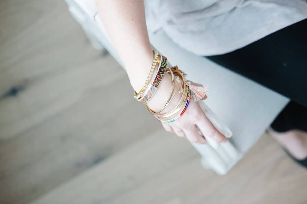 Photo of bracelets; making them is a craft idea that makes money