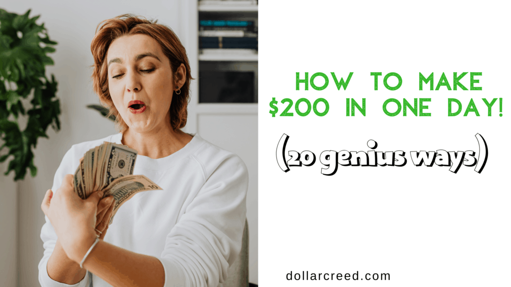 Image of how to make $200 fast in one day