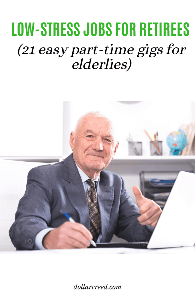 Pin Image of jobs for retirees