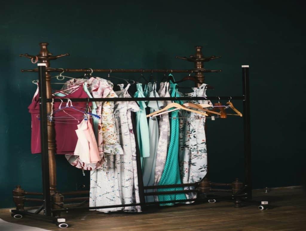Photo of clothes on the rack