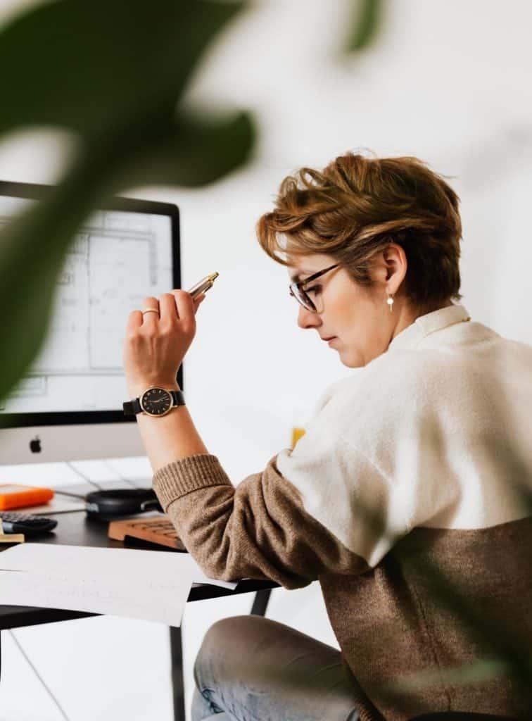 Photo of a woman preparing tax