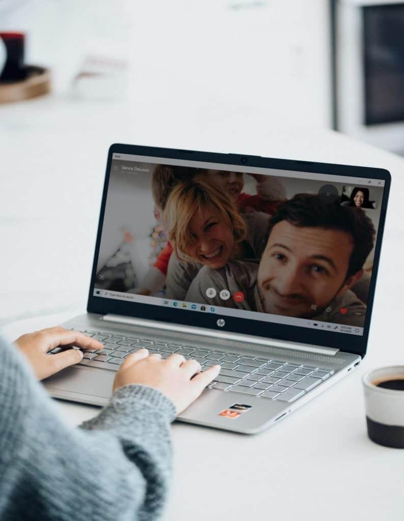 Photo of virtual friends communicating