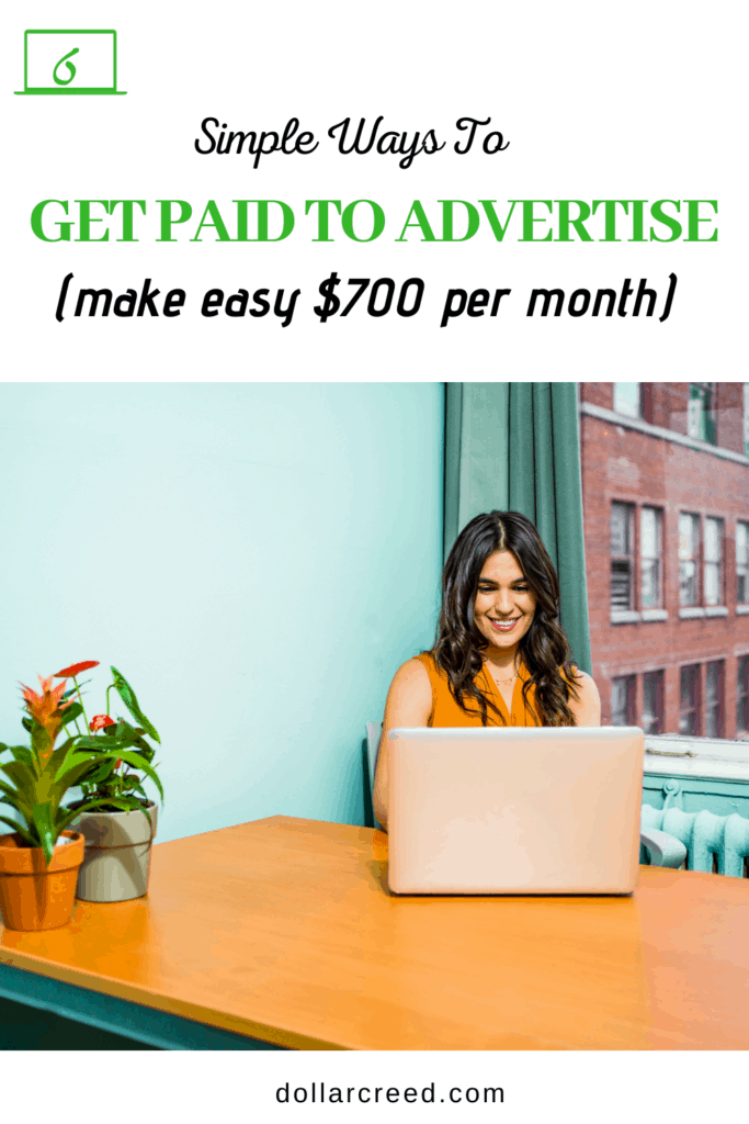 Pin Image of Get Paid To Advertise