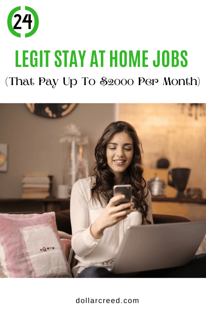 Pin Image of Stay at home jobs