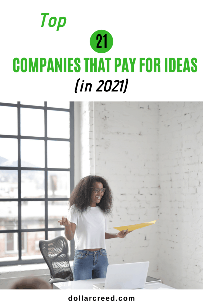 Pin Image of Companies that pay for ideas