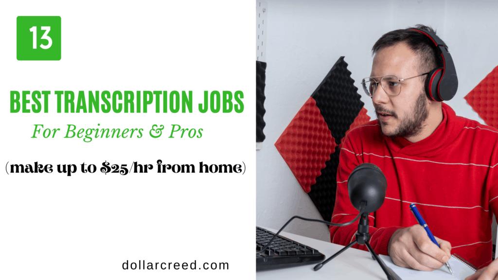 Image of best transcription jobs