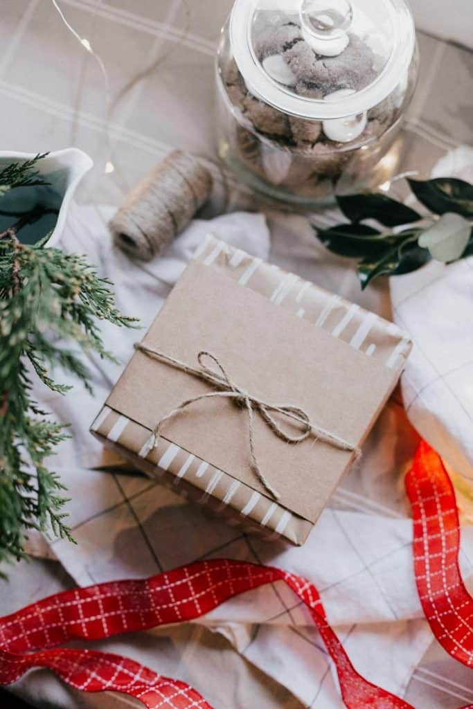Photo of a gift package, delivering gifts is a great seasonal job