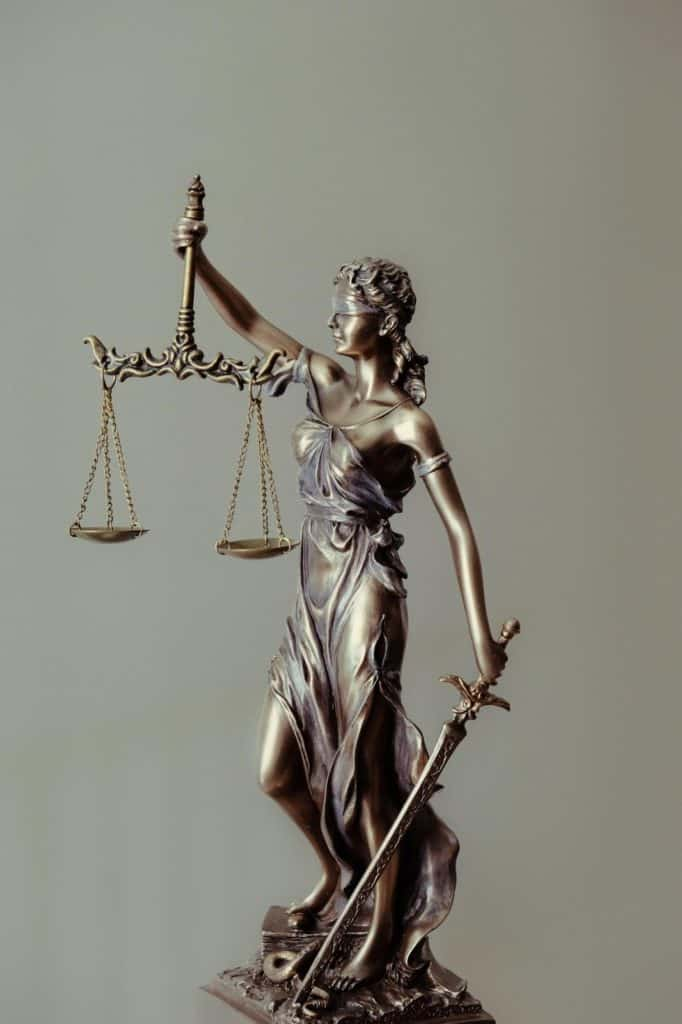 Photo of lady justice and her scales