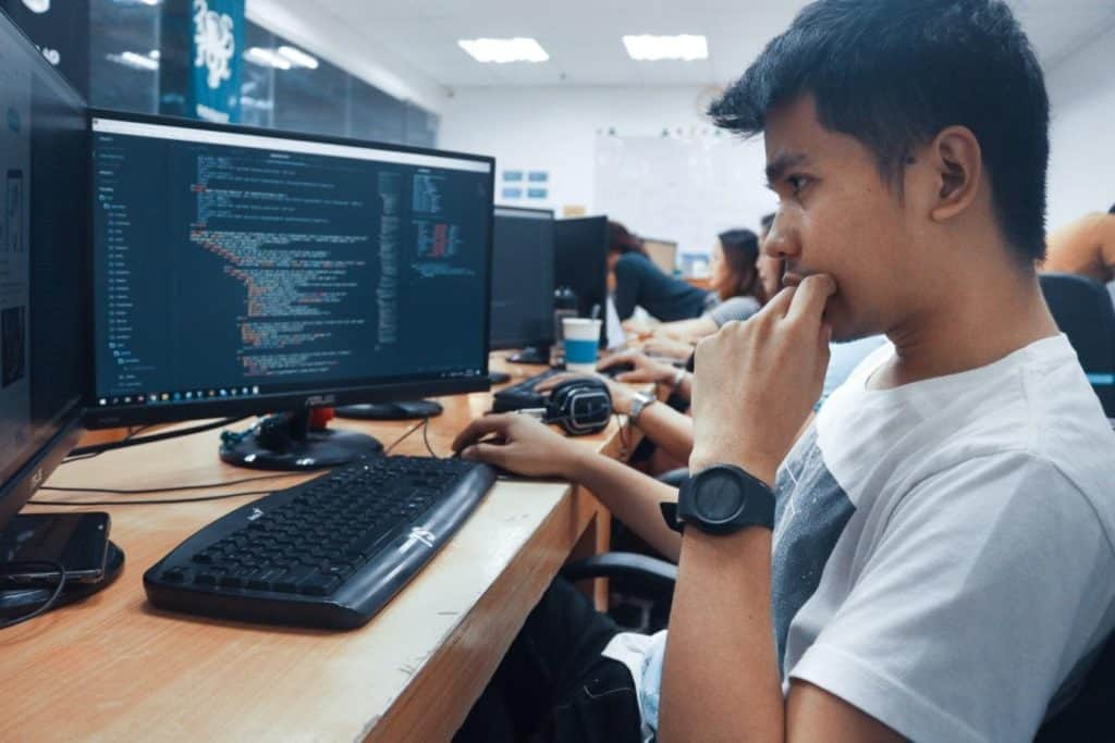 Photo of a software programmer; a great stay at home job