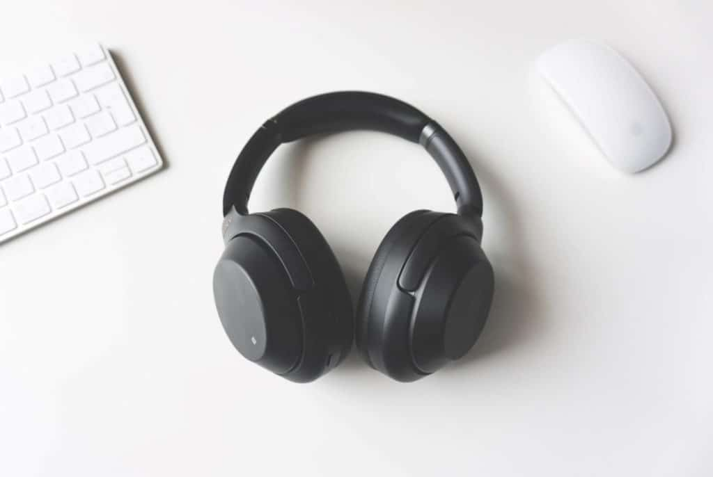 Photo of headphones needed for transcription jobs