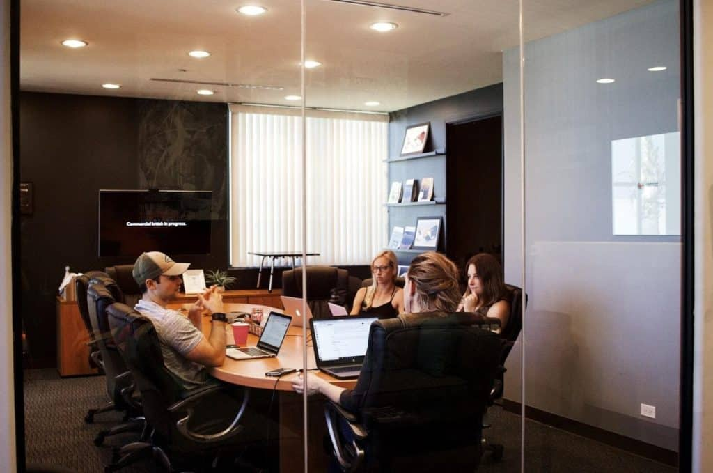 Photo of staff in an office space