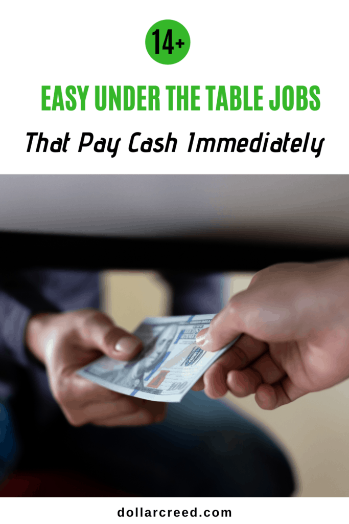 Pin Image of Under The Table Jobs