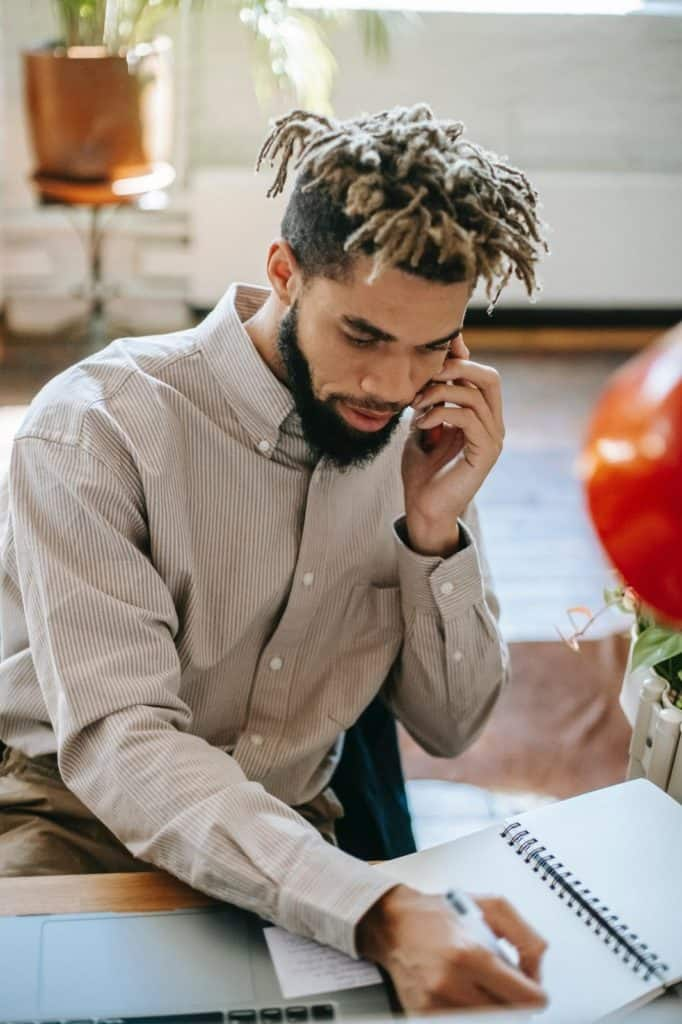 Photo of a man receiving a call; you can get paid to talk to & resolve customers issues