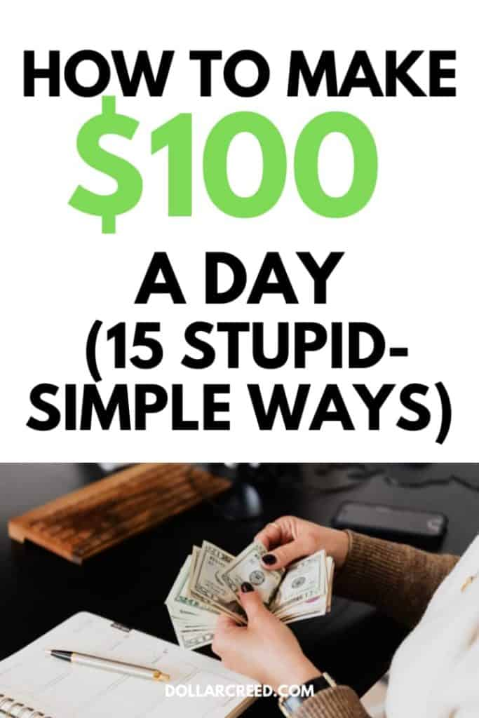 Pin image of how to make $100 a day