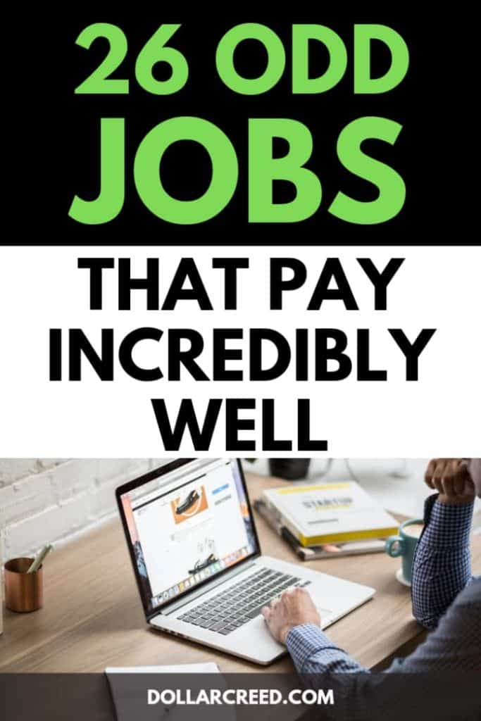 Pin image of odd jobs that pay well