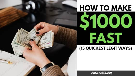 Image of how to make $1000 fast