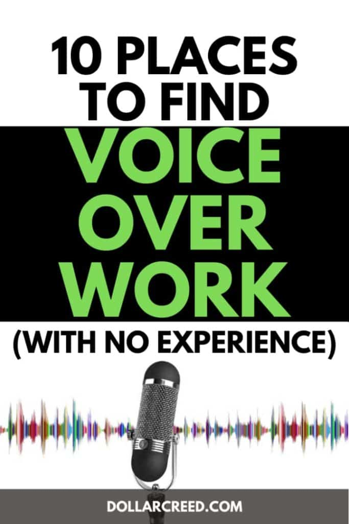 Pin image of voice over work
