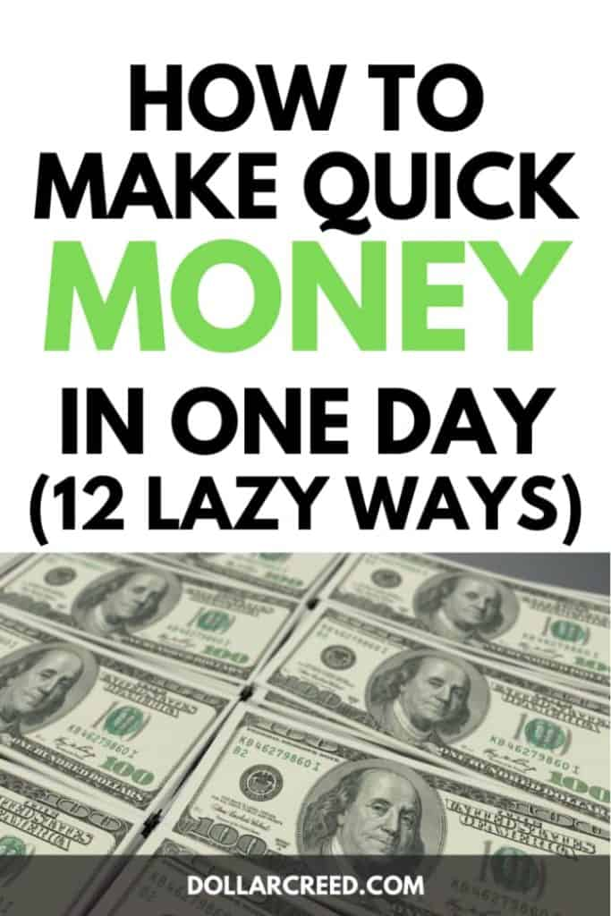 Image of How to make quick money in one day