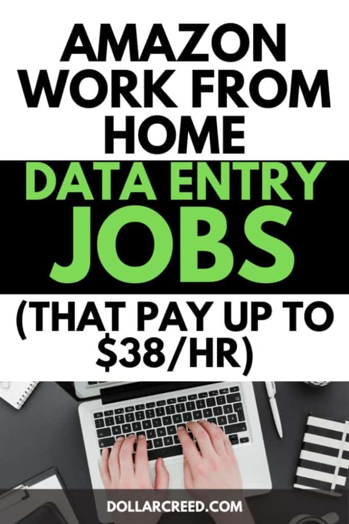 Pin image of Amazon work from home data entry jobs