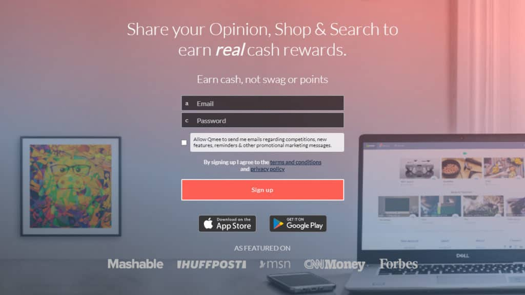 Photo of the Qmee extension; watching ads is an excellent way to make money as a teenager