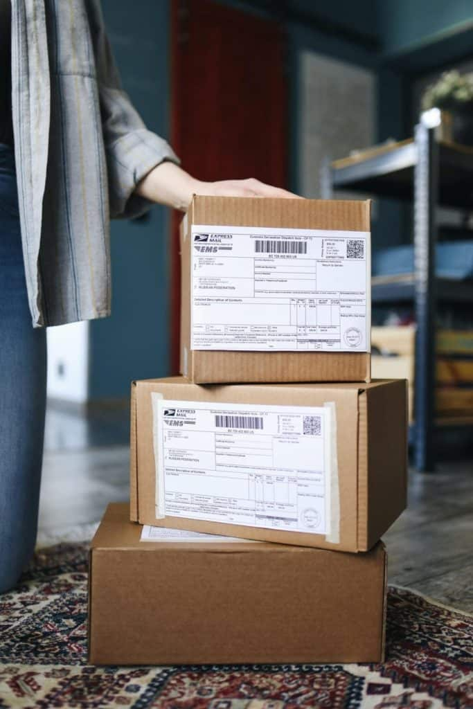Photo of delivery boxes