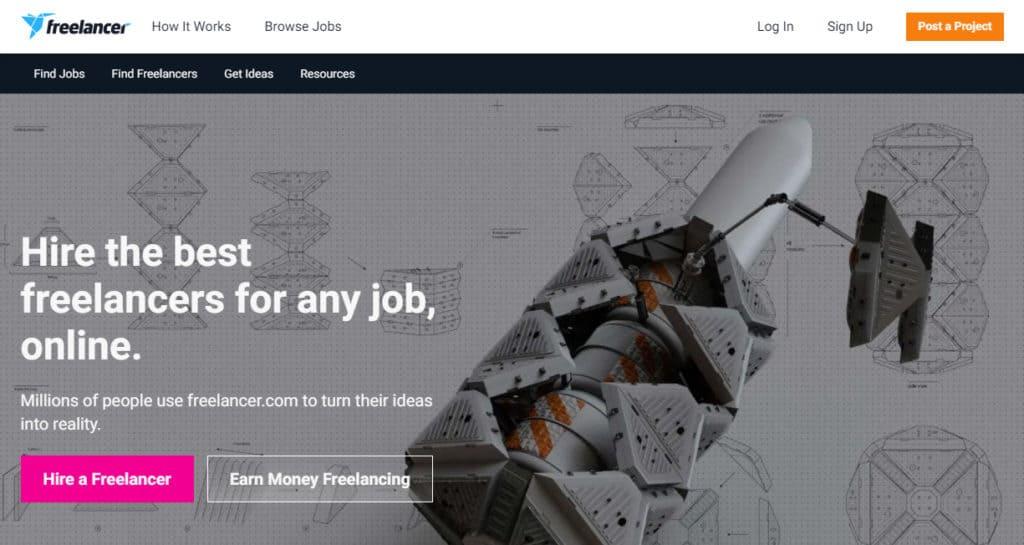 Photo of Freelancer site
