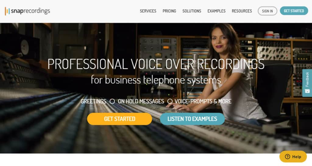 Photo of Snap recordings site