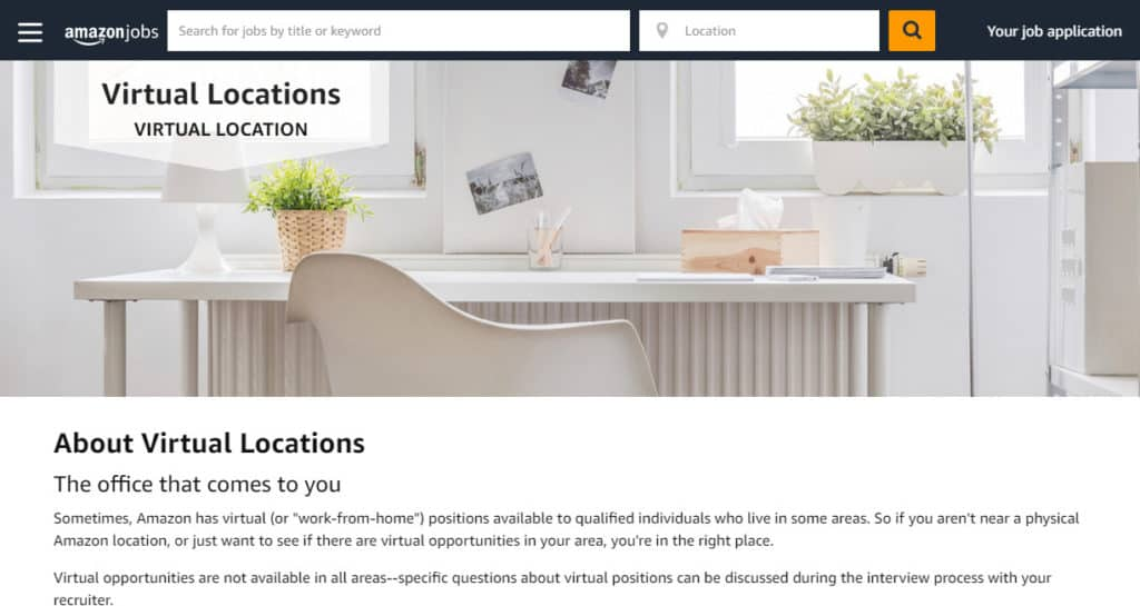 Photo of Amazon work from home data entry jobs site