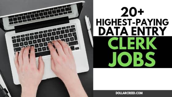 Image of data entry clerk jobs
