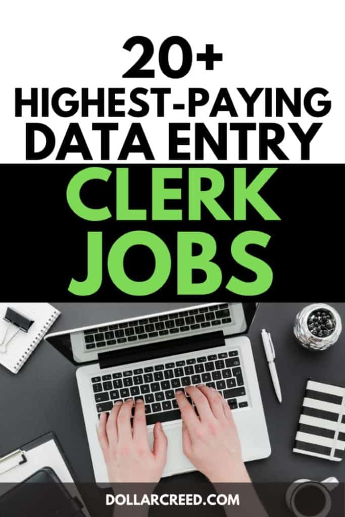 Pin image of data entry clerk jobs