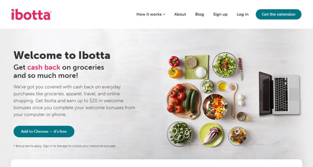 Photo of Ibotta site; get paid to shop on cashback sites when you need quick money