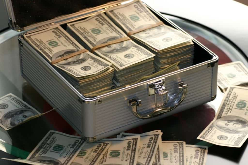 Photo of cash in a briefcase; there are easy ways to make money in gta 5 online