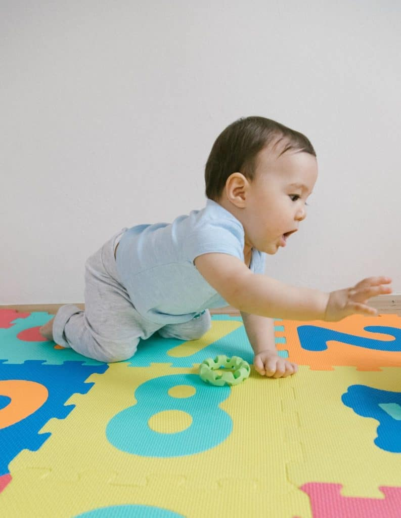 Photo of a baby; you can get paid to test baby products